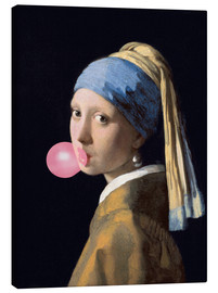 Canvas print  The Girl with a Pearl Earring (gum)