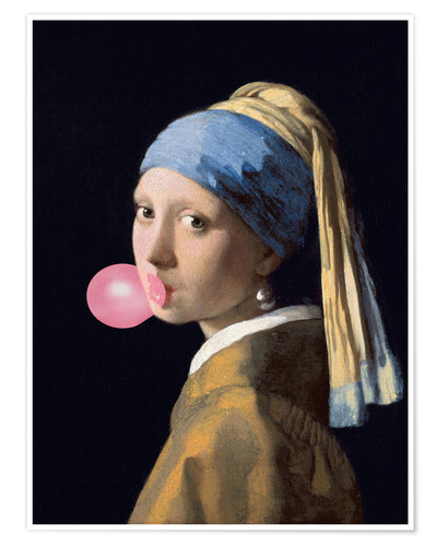 Premium poster The Girl with a Pearl Earring (gum)