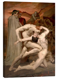 Canvas print  Dante and Virgile - William Adolphe Bouguereau