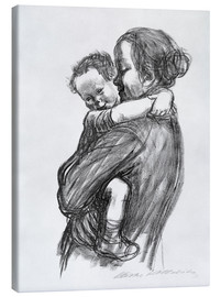 Canvas print  Mother and child - Käthe Kollwitz