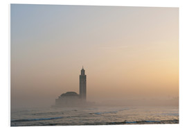 Foam board print  Mosque of Casablanca - Ian Cuming