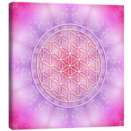 Canvas print  Flower of life - unconditional love - Dolphins DreamDesign