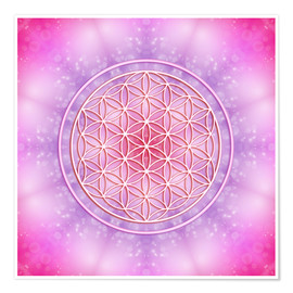 Premium poster  Flower of life - unconditional love - Dolphins DreamDesign
