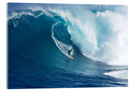 Acrylic print  Giant Wave at Maui - Ron Dahlquist