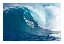 Premium poster  Giant Wave at Maui - Ron Dahlquist