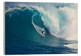 Wood print  Giant Wave at Maui - Ron Dahlquist