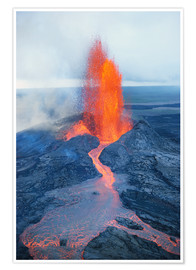Premium poster  Lava fountain - Reggie David