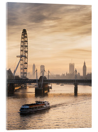Acrylic print  Millenium Wheel with Big Ben, London, England - Charles Bowman