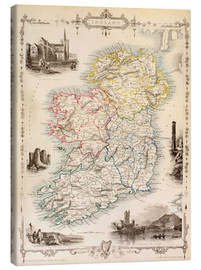 Canvas print  Map Of Ireland by Thomas Wright (18th century) - Ken Welsh