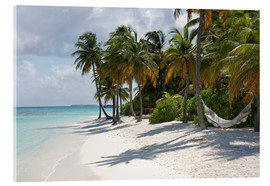 Acrylic print  Tropical beach with a hammock - Circumnavigation