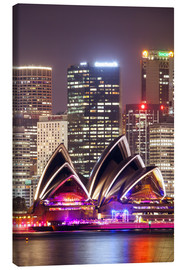 Canvas print  Sydney Opera house at night - Matteo Colombo