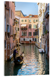 Acrylic print  Gondolier in Venice - Matteo Colombo