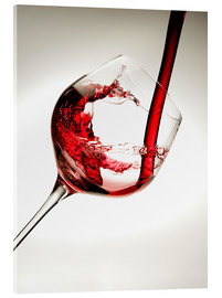 Acrylic print  Red wine in a glass - Richard Desmarais