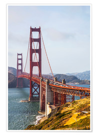 Premium poster  Golden Gate Bridge in San Francisco - Leah Bignell