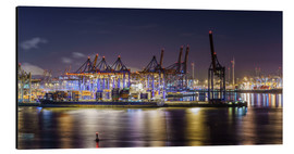 Aluminium print  Night in the Hamburg harbor - Daniel Heine