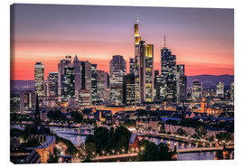 Canvas print  Skyline Frankfurt am Main Sundown - Frankfurt am Main Sehenswert
