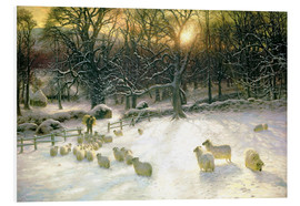 Foam board print  The Shortening Winter's Day is Near a Close - Joseph Farquharson