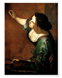 Premium poster  Artemisia Gentileschi as the Allegory of Painting - Artemisia Gentileschi