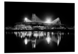 Foam board print  Weserstadion, Bremen in black and white - Tanja Arnold Photography