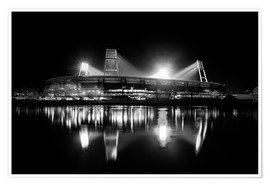 Premium poster  Weserstadion, Bremen in black and white - Tanja Arnold Photography