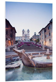 Foam board print  Famous Spanish Steps and Bernini fountain, Rome, Italy - Matteo Colombo