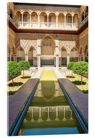 Acrylic print  Court of the virgins in the royal Alcazar - Matteo Colombo