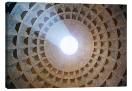 Canvas print  Ceiling of the Pantheon temple, Rome - Matteo Colombo