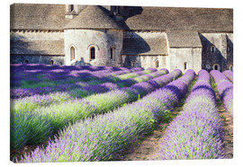 Canvas print  Famous Senanque abbey with its lavender field, Provence, France - Matteo Colombo