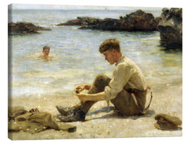 Canvas print  Lawrence as a Cadet at Newporth Beach - Henry Scott Tuke