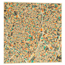 Acrylic print  Madrid map - Jazzberry Blue