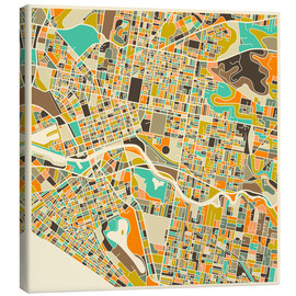 Canvas print  Melbourne Map - Jazzberry Blue
