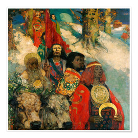 Premium poster  Druids bringing in the Mistletoe - Edward Atkinson Hornel