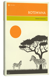 Canvas print  Botswana - Jazzberry Blue