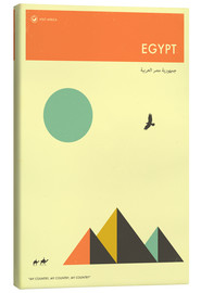 Canvas print  Egypt - Jazzberry Blue