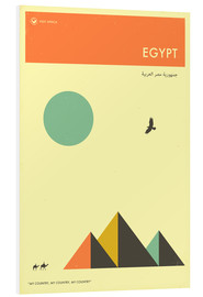 Foam board print  Egypt - Jazzberry Blue