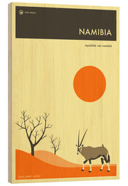 Wood print  Namibia - Jazzberry Blue
