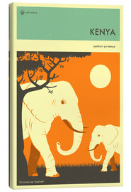 Canvas print  Kenya - Jazzberry Blue