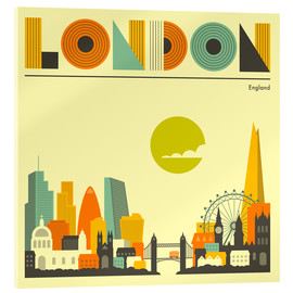 Acrylic print  London skyline - Jazzberry Blue