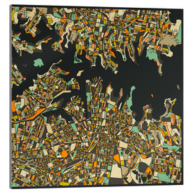 Acrylic print  Sydney Map - Jazzberry Blue
