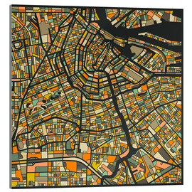 Acrylic print  Amsterdam Map - Jazzberry Blue