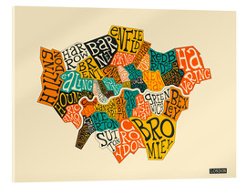 Acrylic print  London Boroughs - Jazzberry Blue