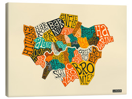 Canvas print  London Boroughs - Jazzberry Blue