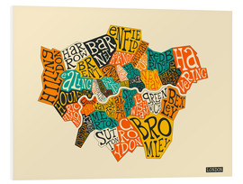 Foam board print  London Boroughs - Jazzberry Blue