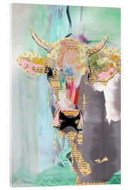Acrylic print  Cow collage - GreenNest