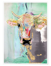 Premium poster  Cow collage - GreenNest