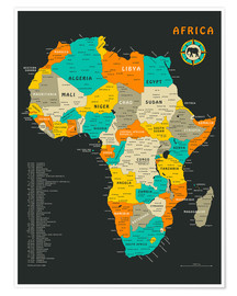 Premium poster  Africa Map - Jazzberry Blue