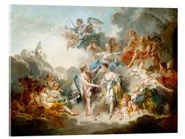 Acrylic print  Cupid and Psyche celebrate wedding - François Boucher