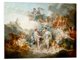 Foam board print  Cupid and Psyche celebrate wedding - François Boucher