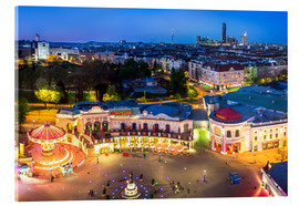 Acrylic print  View from the Vienna Giant Ferris Wheel on the Prater - Benjamin Butschell