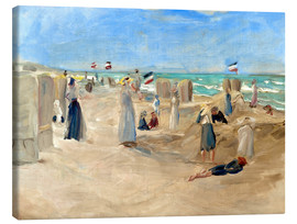 Canvas print  On the beach in Noordwijk - Max Liebermann
